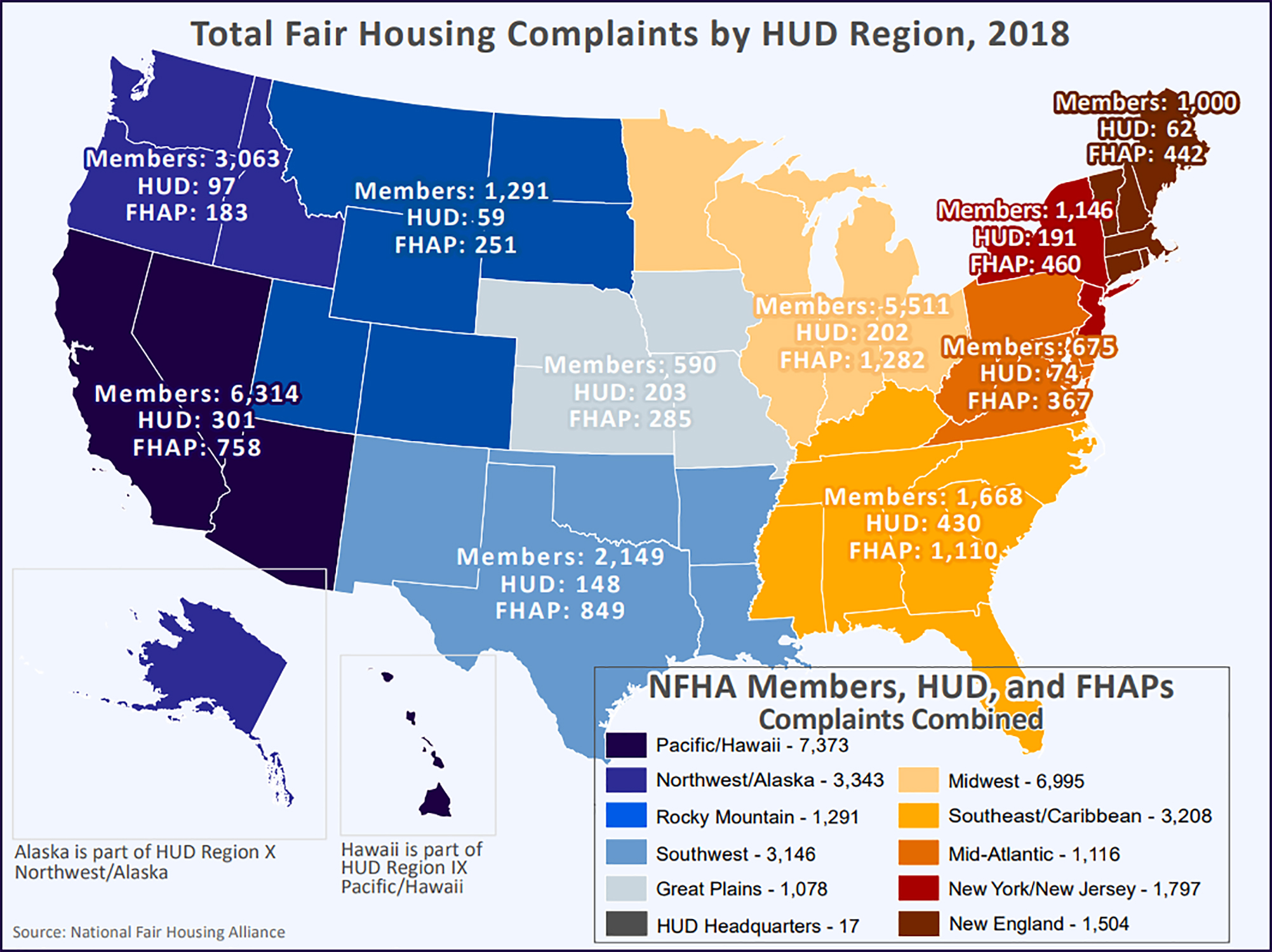 fair housing complaints map