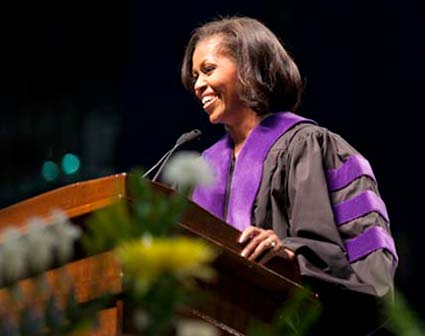 first-lady at commencement
